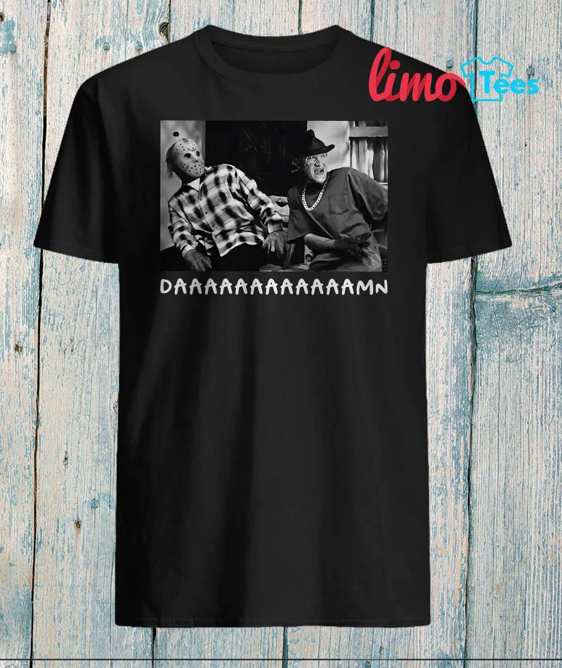 Jason Voorhees Freddy Krueger daamn shirt