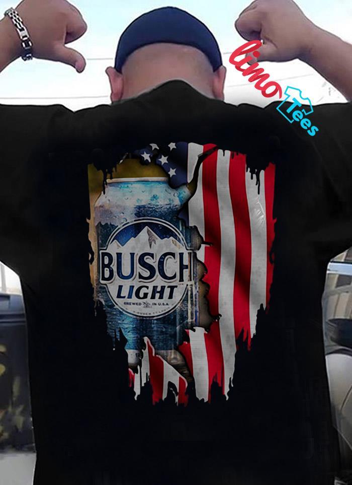 Busch Light beer American flag shirt