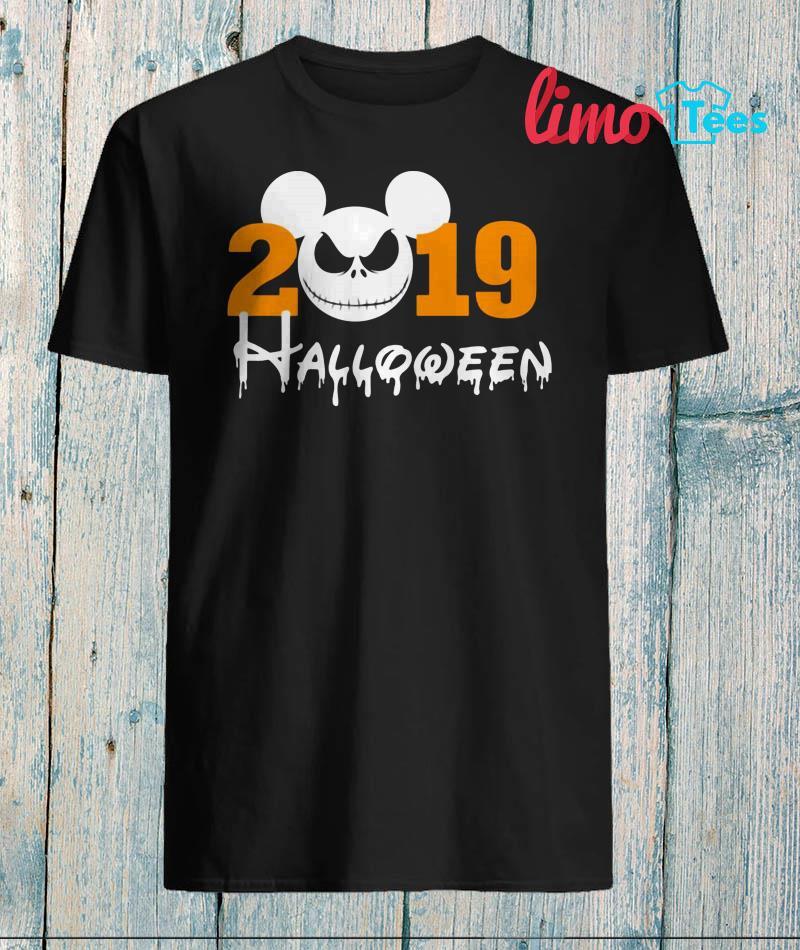 Jack Skellingtion Disney halloween 2019 shirt