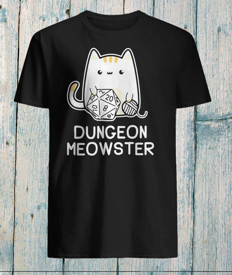 Dungeon meowster dungeons and dragons cat t-shirt