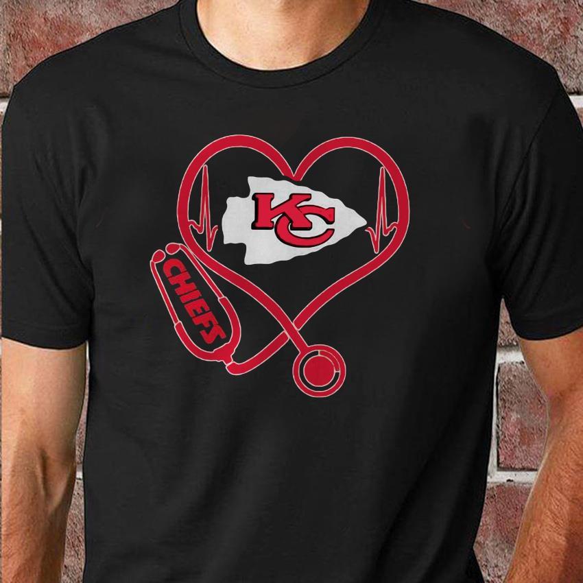 Kansas City Chiefs nurse heart shirt