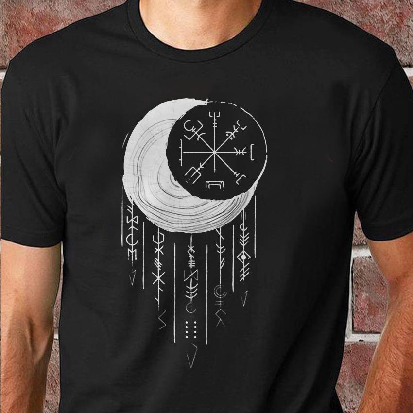 Moon Vigvisir Viking dreamcatcher unisex shirt