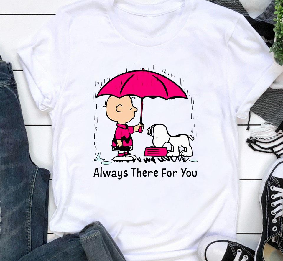Snoopy and Charlie Brown always there for you shirt