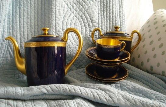 Porcelaine Limoges Bleu de four