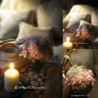 A la lueur d'un bouquet d'OEILLETS ROSES  (The light of a PINK CARNATIONS bouquet)