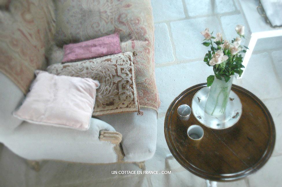 Teintes salon rustique Un Cottage En France 1