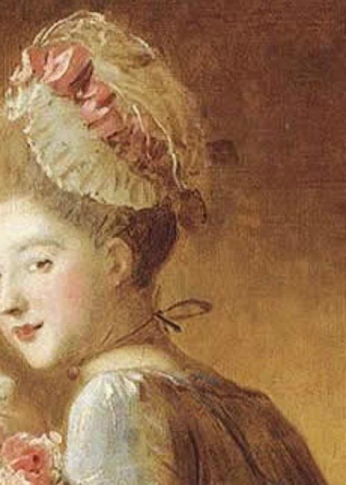 Frragonard, La Lettre d'Amour detail - Fragonard, The Love Letter detail detail - Fragonard Le love letter detail