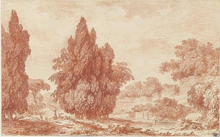 Fragonard-les cypres