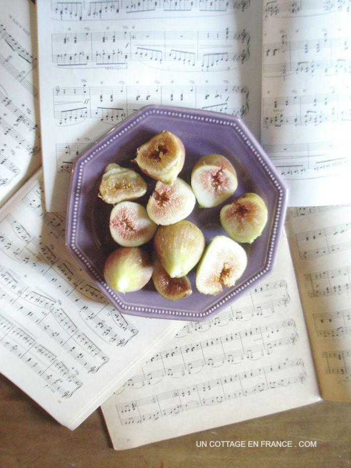 assiette de figues fraiches