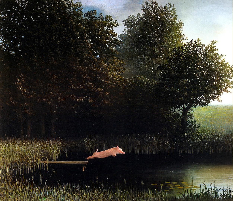 Kohler's Pigby Michael Sowa Painting, Wallpaper ©artwallpaper.eu