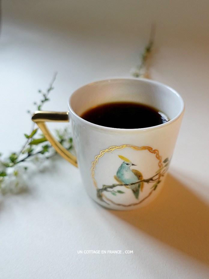 La jolie tasse de Porcelaine de LImoges (The pretty Limoges porcelaine cup)