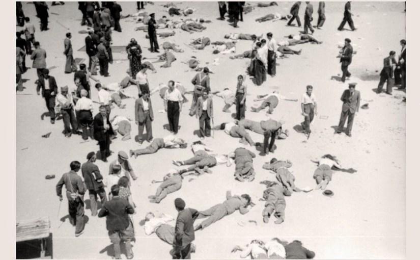Oficiales del Cuartel de la Montaña, asesinados después de haberse rendido.
