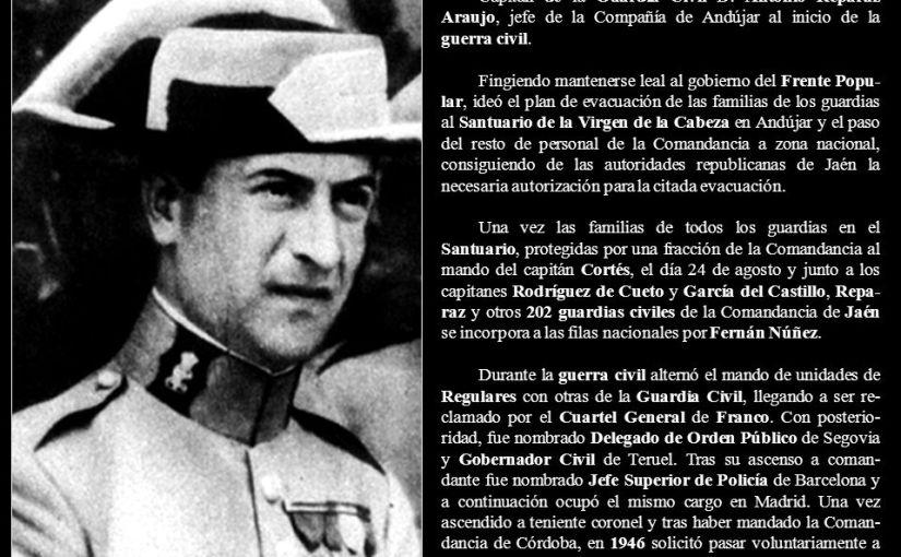"""<span class=""""entry-title-primary"""">Andújar: El intento de sublevación del capitán Reparaz</span> <span class=""""entry-subtitle"""">El 19 de julio de 1936 el capitán Reparaz intentó organizar a los elementos contrarios a la revolución, pero después abandonó el intento</span>"""
