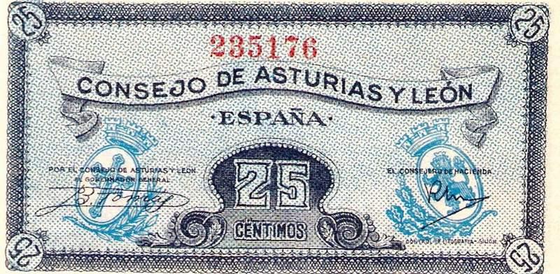 Billete del Consejo de Asturias y León, con Cruz y todo.