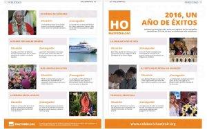 Propaganda de HazteOir.org en ABC y La Razón el 2 de enero de 2017.