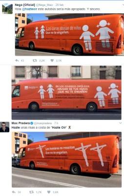 Respuestas reenviadas por miles en Twitter, que en vez de al Yunque atacan al catolicismo.