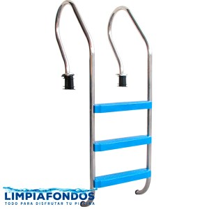Escalera Confort Peld Plásticos 38mm 2 a 4 Peldaños