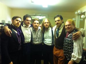 Vitalis (third from right) with fellow cast members of Deafinitely Theatre's Love's Labour's Lost