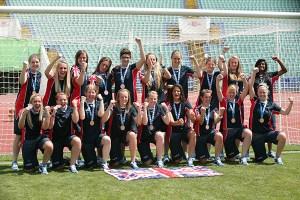 The bronze medal-winning GB Womens Football team