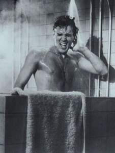 elvis in shower