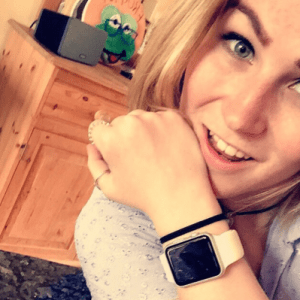 Molly with her watch