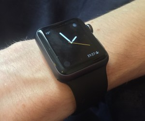 Apple Watch in place and ready to pair with iPhone
