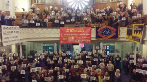 Over 200 unions across the UK supported Andrew, here is just one example, in Wandsworth
