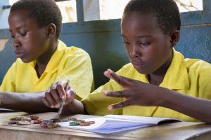 Maths at Kinanga School for the Deaf, Kenya.