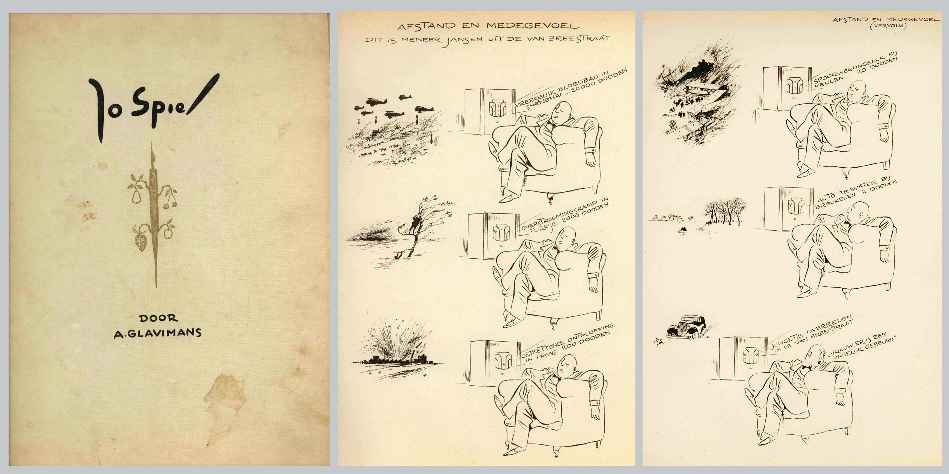 Jo Spier tekeningen, boek uitgegeven omstreeks 1937