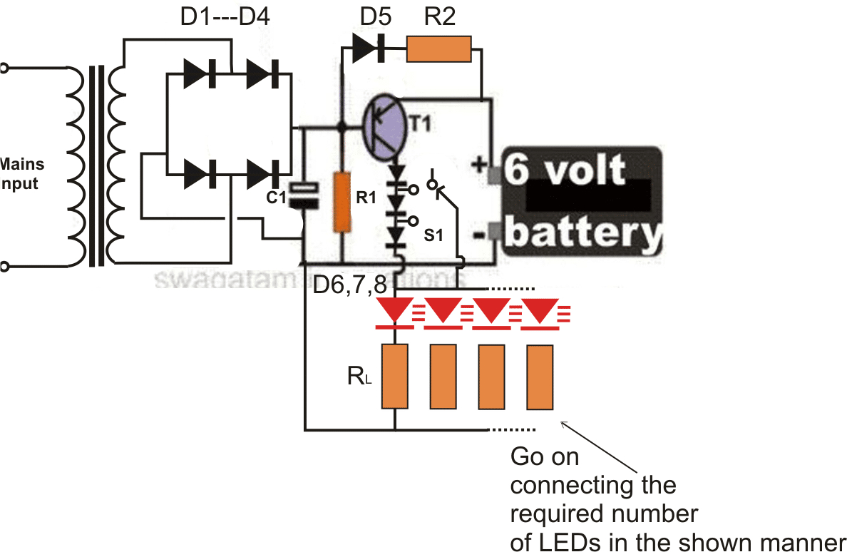 hight resolution of simple led emergency light project homemade circuit projects regarding sizing 1188 x 774