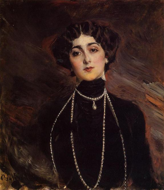 Giovanni Boldini (1842-1931) Portrait of Lina Cavalieri Oil on canvas, c.1901 Public collection