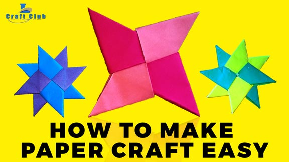How To Make A Paper Ninja Star Shuriken Origami Video