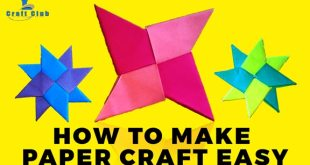 How-to-make-paper-craft-easy---Origami-Paper-Craft---Lina's-Craft-Club