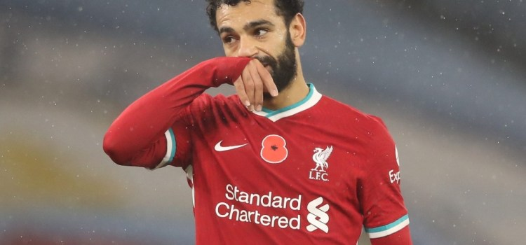 Mohamed Salah, forced into self-isolation after testing positive for coronavirus