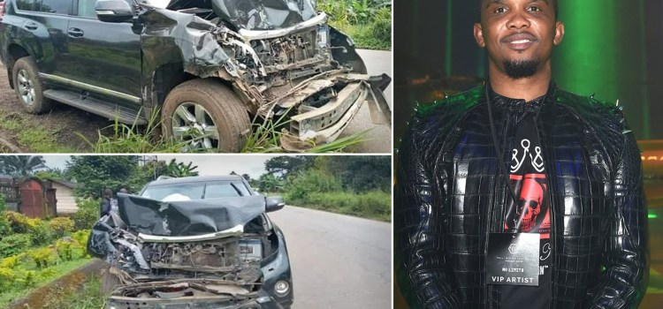 Samuel Eto'o is lucky to have survived a Car Crash this past Sunday.