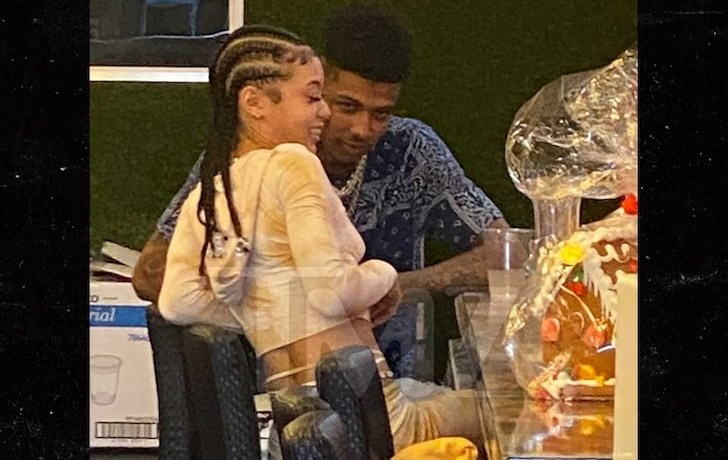 Rapper Blueface got quit cozy with songstress Coi Leray during a lunch date in Los Angeles as seen in photos obtained by TMZ.