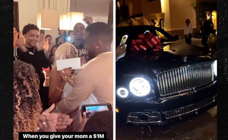 Diddy Gifts His Mother A New Bentley & $1 Million For Her 80th Birthday.