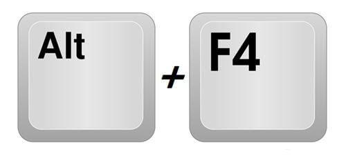 Способ 1: Alt+F4