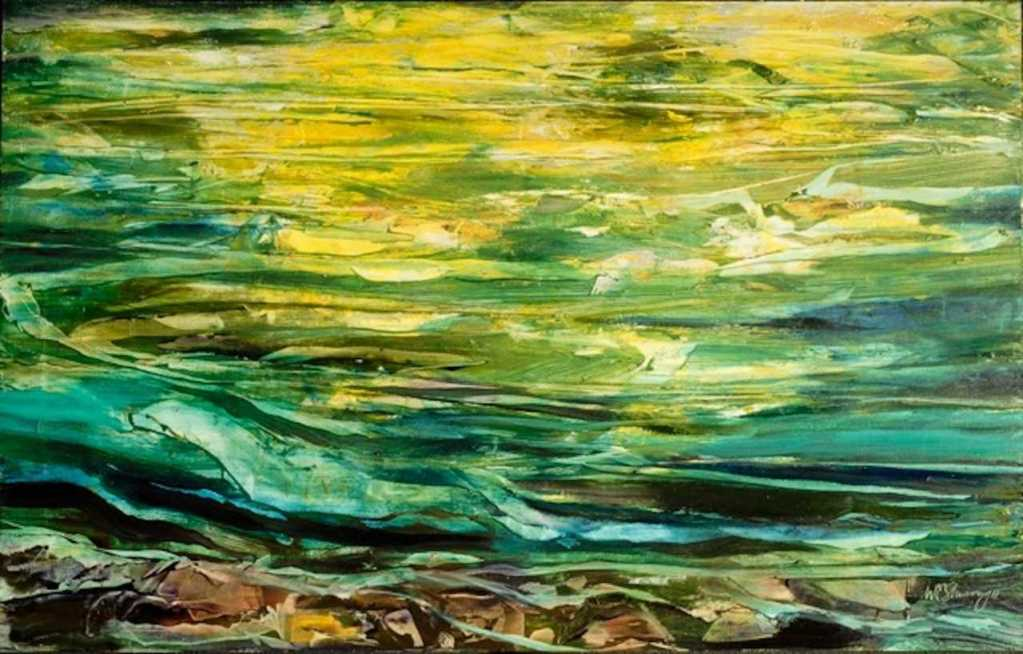 """Painting from the exhibit """"2 Water Ways"""" by Bill Shumway"""
