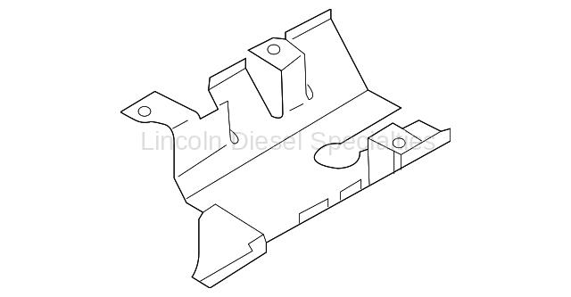 GM OEM Turbo Heat Shield (Lower)