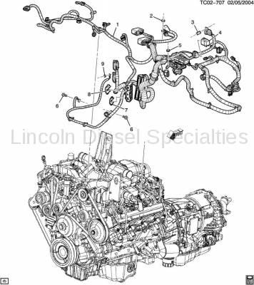 GM OEM Engine Wiring Harness (LLY)