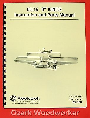 Rockwell 6 Jointer Manual