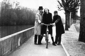 Sami Frey, Anna Karina, and Claude Brasseur in Godard's BAND OF