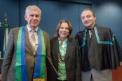 L-R: Dr Evgeny Khukhro, Prof Márcia Abrahão Moura and Prof Pavel Shumyatsky