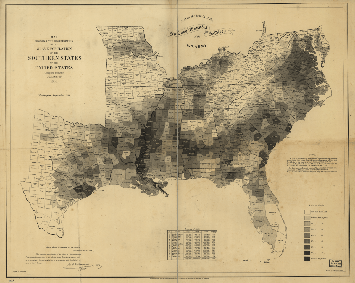 Fox Home Mapping The Spread And Distribution Of U S Slavery