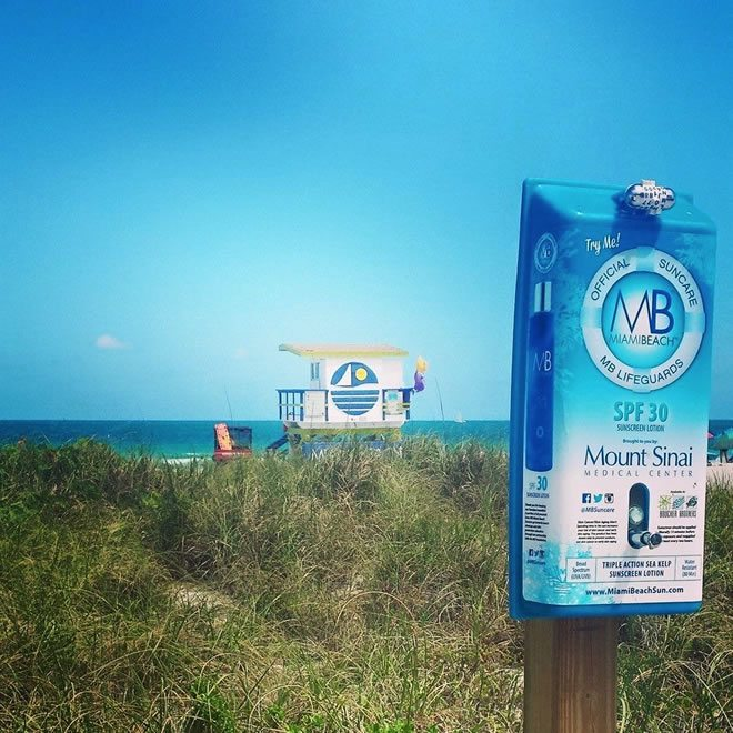 Miami Beach Offers Free Sunscreen Lotion Dispensers