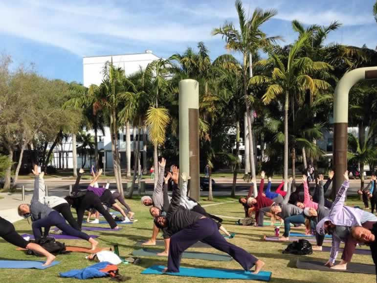 Free Yoga – Stretch It Out At the New World Symphony.