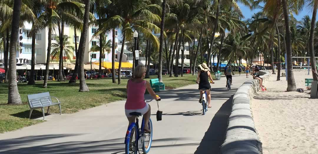 Citi Bikes on the boardwalk