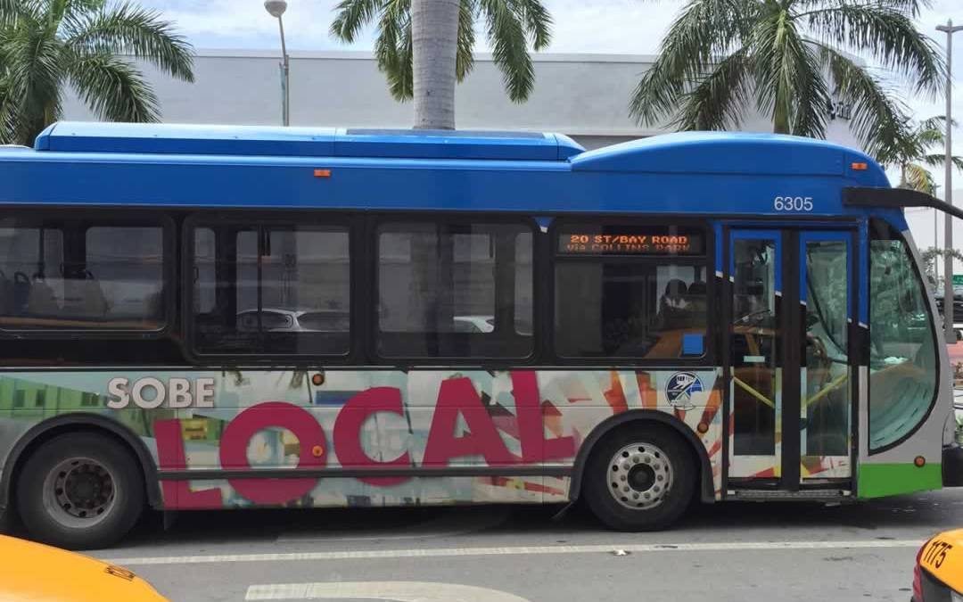 Ride the South Beach Local Bus for only 25cents