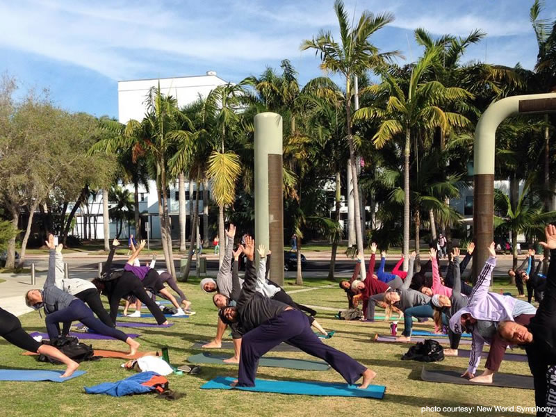 Free Yoga – At the New World Symphony & Athleta Lincoln Road